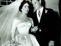 Elizabeth Taylor marries Conrad 'Nicky' Hilton in 1950.