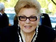 "Esther Williams, seen here in 2004, starred in films such as ""Easy to Wed"" and ""Neptune's Daughter"""