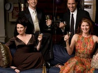 Megan Mullally, left, Sean Hayes, Eric McCormack and Debra Messing of NBC's 'Will , Grace,' a long-running sitcom which helped bring acceptance to homosexuality.