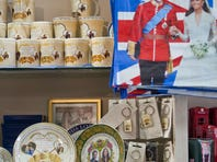 Souvenirs for the royal baby of Prince William and Duchess Kate crowd shops in London.