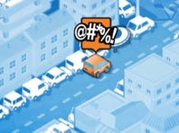 Screenshot from a promotional video for parking app Parko.
