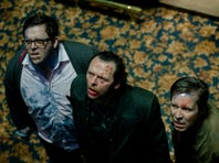 """Edgar Wright, center, has been sharing good times with Nick Frost and Simon Pegg for three movies, including """"The World's End."""""""