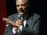 U.S. Attorney General Eric Holder speaks at the University of Mississippi in Oxford, Miss., on Thursday.