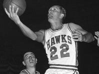 Basketball Hall of Famer Slater Martin, shown Oct. 31, 1959, playing for the St. Louis Hawks, died Wednesday.