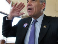 Rep. Charlie Gonzalez, D-Texas, chairman of the Hispanic Congressional Caucus speaking in Albuquerque, N.M., where he talked about the rise of more Hispanic candidates for Congress.