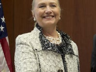 U.S. Secretary of State Hillary Clinton, at the U.S. Embassy in Bosnia on Tuesday.