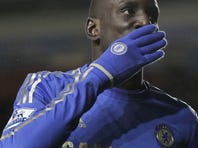 Demba Ba scored twice in Chelsea's romp, his debut following a transfer from Newcastle.