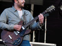 Caleb Followill from the band Kings of Leon performs at the 3rd annual Governors Ball Music Festival in New York.