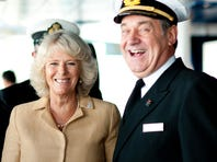 Camilla, the Duchess of Cornwall, officially named Cunard's Queen Victoria in 2007.