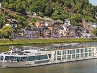 A Scenic Cruises ship sailing on the Rhine in Germany.