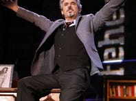 David Feherty has fun with the audience at Golf Channel's 'Feherty Live From the Ryder Cup', on Monday.