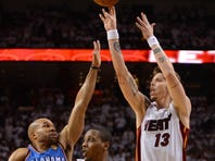 Heat forward Mike Miller didn't complain about open shots. He knows where he earns his coin.