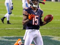Chicago Bears wide receiver Brandon Marshall took issue with Detroit lineman Ndamukong Suh's behavior after a hard sack on quarterback Jay Cutler