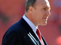 Kansas City Chiefs general manager Scott Pioli before the game against the Carolina Panthers at Arrowhead Stadium.