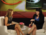 'Fifty Shades of Grey' author E.L. James laughs with Katie Couric on Monday's show.
