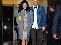 Katy Perry and John Mayer are spotted on the streets of Manhattan on Tuesday.