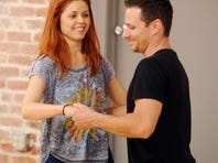 Anna Trebunskaya rehearses in September with Drew Lachey for Season 15 of 'Dancing With the Stars.'