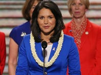 Democrat Tulsi Gabbard spoke at the party's national convention in September in Charlotte.