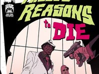 This cover for 'Twelve Reasons to Die' was drawn by Ron Wimberly.