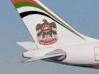 An Etihad Airways A340-500.