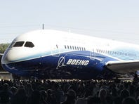 The new Boeing 787 Dreamliner is unveiled during the world premiere of this aircraft in Everett, Washington.