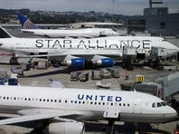United Airlines planes at San Francisco International Airport on July 26, 2012.