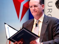 Richard Anderson, CEO of Delta Air Lines, listens during the company's annual meeting in New York on June 30, 2010.