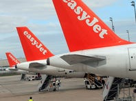 This photo from April 29, 2013, shows Airbus A 320 jets of easyJet at Paris' Charles de Gaulle airport.