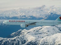An image of an Air Canada Boeing 777-300ER provided by the airline.
