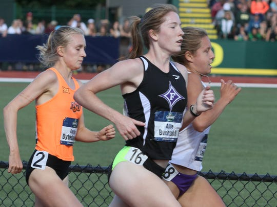 Furman's Allie Buchalski earned second-team All-American honors after finishing 14th in the 5,000m at the NCAA Outdoor Track and Field Championships in Eugene, Oregon.