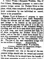 This is the letter Benjamin Watson wrote to The Poughkeepsie Eagle as published Oct. 27, 1855.