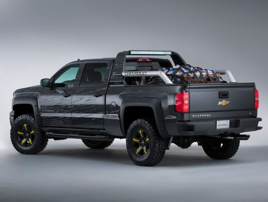 The  Black Ops concept, based on the Chevrolet Silverado Crew Cab 4x4, has plenty of cargo space -- and is loaded up