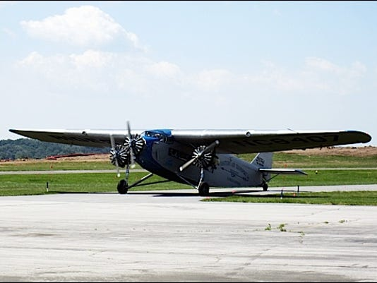 1929 Ford Tri-Motor Airplane at New Garden Flying Field (2016 Photo by S. H.