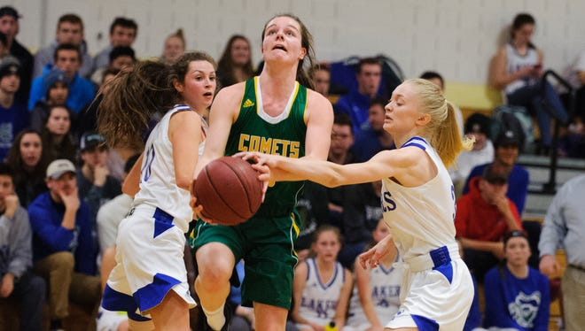 BFA's Caitlyn Dasaro, seen in action last season, helped the Comets topple Rice on Thursday night.