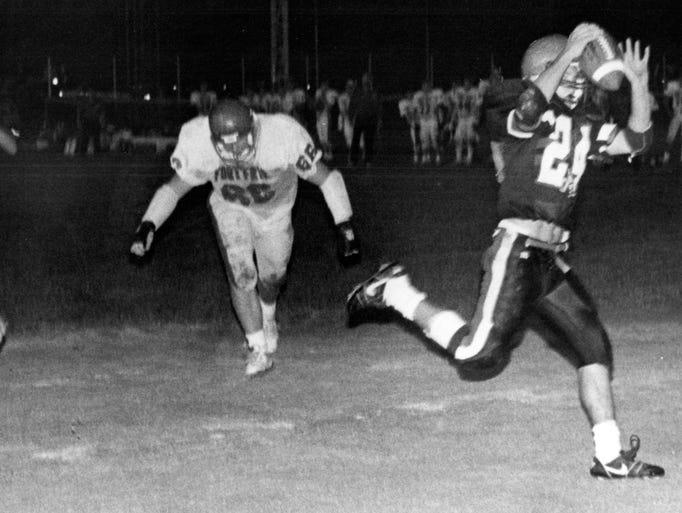 Rosecrans scores against Fort Frye at Gant Stadium in an undated photo.