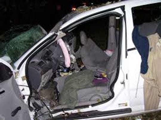This is the Chevrolet Cobalt in which Brooke Melton died after an ignition switch malfunctioned, cutting power to the power steering. It was a settlement of the case her parents brought that brought the scope of the problem to light.