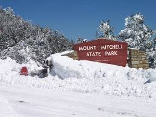 Mount Mitchell State Park saw 66 inches fall over the