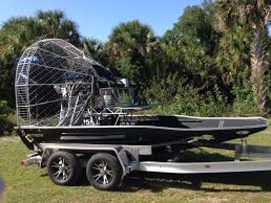 A 2000 Panther 15-foot airboat like this one was found in about 12 feet of water on LAke Okeechobee. The boat found was used by a couple missing on the big lake.