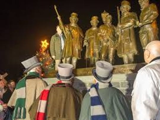 The Glen Rock Carol Singers have been strolling the streets of Glen Rock early Christmas mornings for more than 150 years. This monument documents this enduring group of walking carolers.