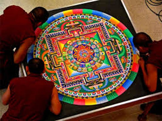 On Feb. 8 through 12, 2017, Tibetan monks sharing Mystical Arts of Tibet at The Lyric Theatre will bookend their performances with the creation and dispersal of a sand mandala at the Arts Council of Martin County.
