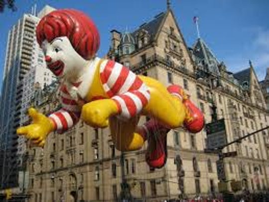 Various Ronald McDonald balloon incarnations have been a regular fixture in the Macy's Thanksgiving Day parade.