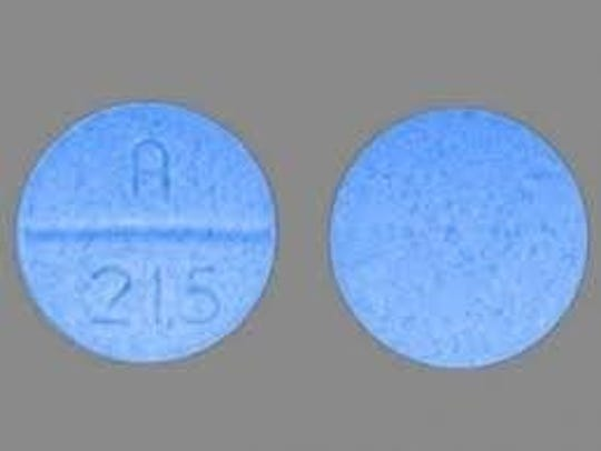 An image of a carfentanil-cyclopropyl fentanyl pill