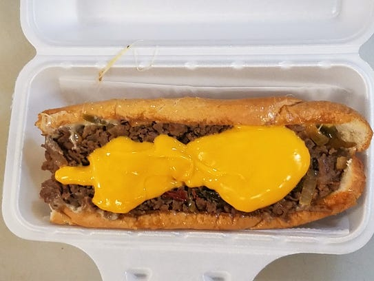 A Philly Cheesesteak from Philly Grill. Finely chopped,