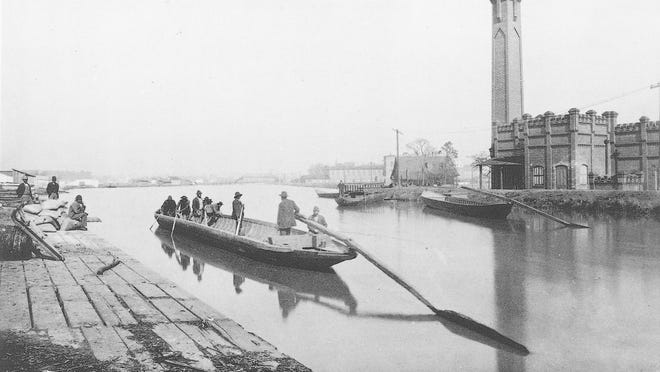 A boat on the Augusta Canal.