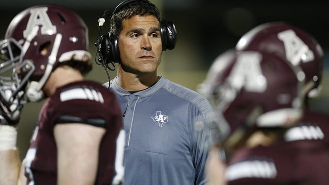 Austin High head coach Mike Rosenthal led the Maroons to a 51-14 win over Akins Friday.