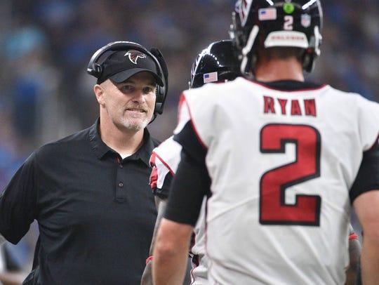 In 2016, Matt Ryan and Dan Quinn of the Falcons had