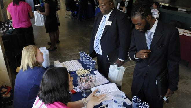 Alabama State University holds a job fair each spring for students, alumni and the public.