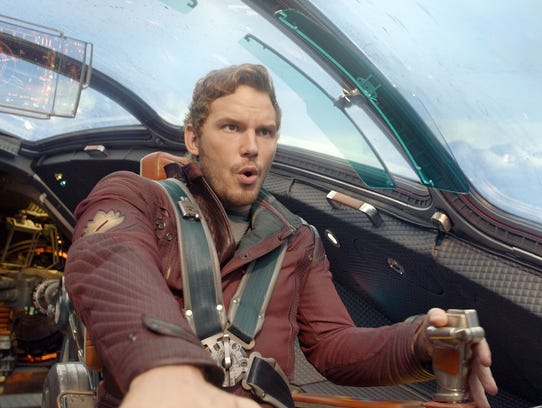 """Chris Pratt as Peter Quill/Star-Lord in a scene from """"Guardians of the Galaxy."""""""