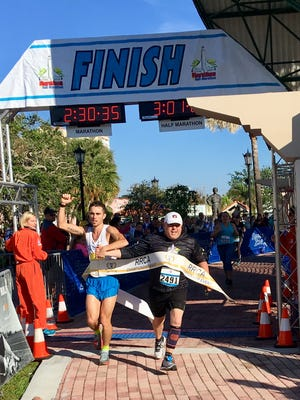 David Kilgore wins the 2017 Space Coast Marathon