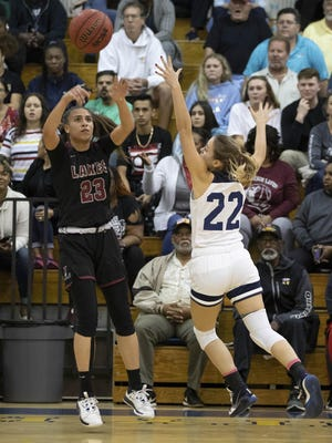 Palm Beach Lakes guard Zaida Gonzalez (23) is shown in last year's regional final win over Boca Raton. Gonzalez led the Rams to a regional quarterfinal win over Port St. Lucie-Centennial on Thursday.